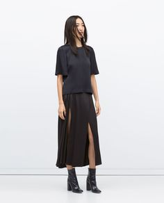 LONG STUDIO SKIRT WITH SLITS-Skirts-Woman-COLLECTION AW15 | ZARA United States
