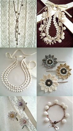 A collection of crochet jewellery   from Naruji