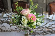 ... these little arrangements throughout the flowering tulip branch