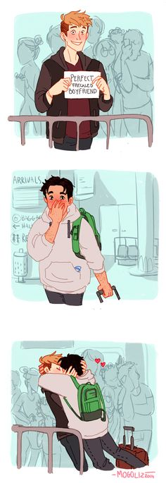This is all I ever really want when I'm at the airport, to see Jean and Marco kissing .-. You thought I was gonna say I want someone waiting for me