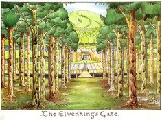 Talk about my inspiration: Tolkien's own illustrations for the Hobbit
