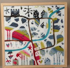Artist: Olivia Denahy Whimsical map of life's journey Naive, Art Therapy, Summer 2014, Just Love, My Heart, Whimsical, Kids Rugs, Abstract, Handmade Gifts