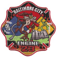 "BALTIMORE CITY FIRE DEPT. ENGINE 23 ""READY TO ROLL"" FIRE PATCH"