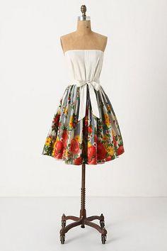 anthropologie flower stand dress