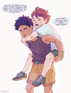 maybe one day i will draw small iwaoi and won't even add any knee injuries or bandaids on them…today is not that day