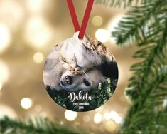 Personalized First christmas puppy ornament. Made from durable wood that wont crack or peel. Each ornament comes ready to hang with a red ribbon hanger. FREE SHIPPING ------------------------------- ORDER PROCESS ------------------------------- 1. Select quantity 2. ADD YOUR PERSONALIZATION 3.
