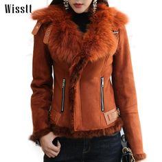 Wissttt Winter Luxury Real Fox Fur Patchwork Motorcycle Suede Women Leather Jacket Short Coat women's denim jackets-in Basic Jackets from Women's Clothing & Accessories on Aliexpress.com   Alibaba Group