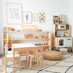 Not sure what to do with a spare room in your home? Transform the space into the ultimate kids playroom! From indoor swings and cool forts to ball pits and reading nooks, check out these 21 kids playroom ideas! Playroom Design, Playroom Decor, Kids Room Design, Playroom Ideas, Playroom Organization, Organizing Books, Wall Decor, Montessori Playroom, Toddler Playroom