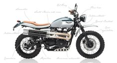 """The Triumph Bonneville motorcycle """"Santa Maria"""" is a personalized bonneville motorcycle injection built with the scrambler parts we manufacture handcrafted."""