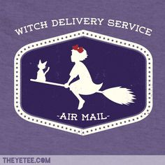 Witch Delivery Service by Jason Cryer #kiki #YeeTee.  Sorry I missed this one!