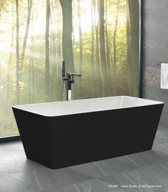 Newtech - Dallas double Ended square bath Square Bath, Complete Bathrooms, New Zealand, Bathroom Ideas, Dallas, Innovation, Bathtub, Vanity, Design