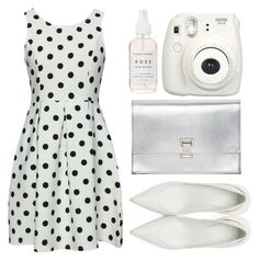 """""""Perpendicular Polka Dots"""" by sweet-jolly-looks ❤ liked on Polyvore featuring WithChic, Maison Margiela, Proenza Schouler, SimpleOutfits, white, simple and PolkaDots"""