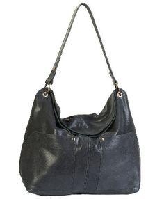 053ee1f12fa5 Owen Barry Black Knight Leather Suede Amara Mini Slouch Shoulder Bag  Knight
