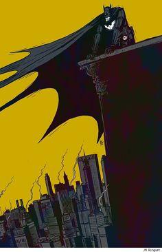 NYC. Batman watching over Gotham City  // J M Ringuet