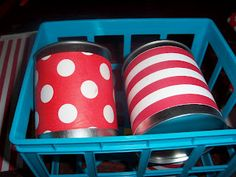 DIY Decorated Cans for carnival party