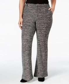RACHEL Rachel Roy Curvy Plus Size Marled Bootcut Pants  $115.00 RACHEL Rachel Roy Curvy Collection's plus size pants are a menswear-inspired essential crafted from a soft, sweater-like fabric.