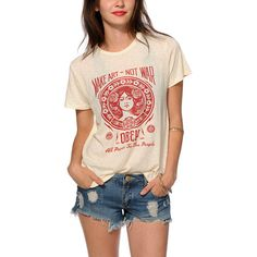I like graphic tees that have a cool print on the front.