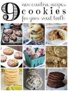 9 Creative Cookie Recipes via Tipsaholic.com #baking #cookies #newrecipe #yum