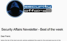 Security Affairs newsletter Round 10 - Best of the week from best sourcesSecurity Affairs