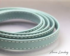 Your place to buy and sell all things handmade Leather Cord, Leather And Lace, Real Leather, Blue Flats, Stitching Leather, Turquoise Color, Leather Necklace, Light Blue, Bracelets