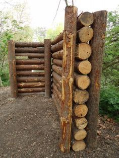 Cordwood fences                                                                                                                                                     More