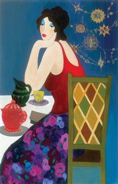 Behind the Artist: Itzchak Tarkay - Park West Gallery Figurative Kunst, Art Deco Buildings, Meet The Artist, Arte Pop, Matisse, Andy Warhol, Love Art, Contemporary Artists, Art Day