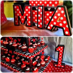 Personalized Cardbox/Name Presentation and Cupcake Toppers with Stand