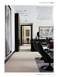 House and Leisure, 'Pure + Simple', Issue 226 June 2013 pg 02 - Charles van Breda Architects