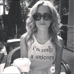When Girly Met Grunge : I'm Really a Unicorn Muscle Tank + Flowy Skirt + Vintage Sunglasses.. haha this shirt is funny