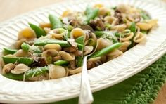 Orecchiette with Shiitake Mushrooms and Sugar Snap Peas
