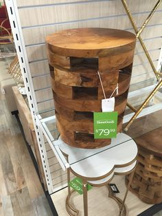 $80 Home Goods Small Wood End Table