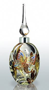 Perfume Bottle - Butterfly - 2009 Guild piece Designed by Richard Golding, Dean Hopkins, Karinna Sellars