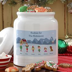 Another cute cookie jar from PersonalizationMall! You can create a cute winter character for every member of the family - even pets! This is a great hostess gift for a Christmas Cookie Exchange party! #Christmas #ChristmasCookie