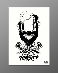 "Mcbess ""Zombies"" giclée print for The Dudes (limited to 250 pieces)"