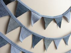 Denim Bunting Banner Garland Room Decor