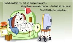 One of my favorite get well cards to face book to my sick friends ♥