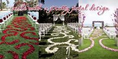use of rose petals in weddings - Google Search