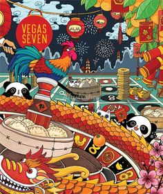New Year Panda China Chinese Gamble Gambling by Shanghee Shin Design Websites, Card Tattoo, Casino Party, Kid Friendly Meals, Panda China, China China, Chinese Art, Memes, Whimsical
