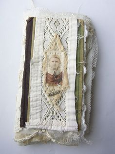 Unique Fabric and Lace Book  Little Girl by tinybearstudio on Etsy, $67.00