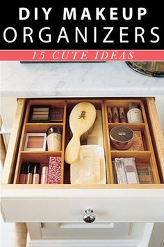 makeup organizer ideas http://makeupit.com/YMvPT | The Cucumber Trick – If you haven't tried it, you're missing out!