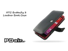PDair HTC Butterfly 3 Leather Book Case