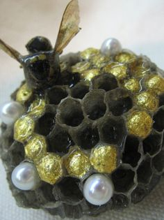 RESERVED for Tameka Jackson The Hive  wasp nest by ArtByWinona, $195.00