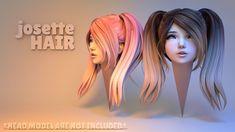 josette hair 3d model obj fbx blend 1