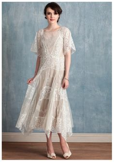 Tea-Length Wedding Dresses, Ruche Vivian dress