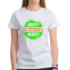 Happy St Patrick's Day T Shirt  #stpatricksday #stpaddy #irish #typography #vintage #worn #shirts #women