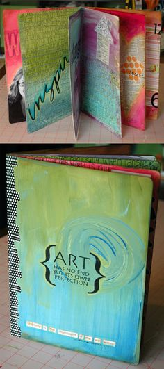 Art journal ---*--- Nice way to practice techniques using a journal.