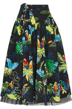 Marc Jacobs   Embellished printed cotton-blend poplin midi skirt   NET-A-PORTER.COM