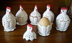 Horgolás minden mennyiségben!!!: Kétrészes tyúk-tojás melegítő leírása