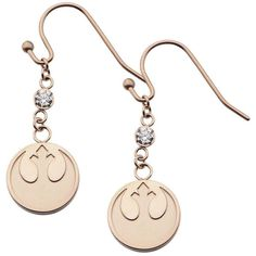 Star Wars Stainless Steel Rebel Alliance Symbol Earrings ($217) ❤ liked on Polyvore featuring jewelry, earrings, earring jewelry, sparkly earrings, bezel setting earrings, stainless steel jewellery and stainless steel jewelry