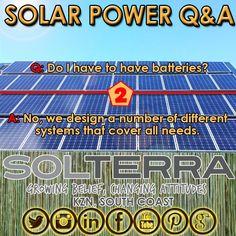 Most common #QandA about #SolarPower HERE!  #GoGreen #EnergyEfficient #KznSouthCoast #GottaLuvKZN #GoSolar Go Green, Energy Efficiency, Solar Power, Cover, Design, Energy Conservation, Solar Energy